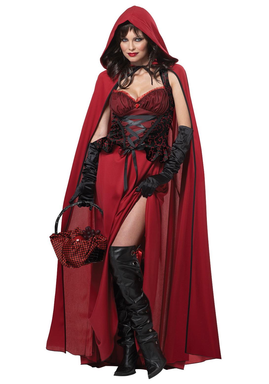 Adult Sexy Dark Red Riding Hood Costume