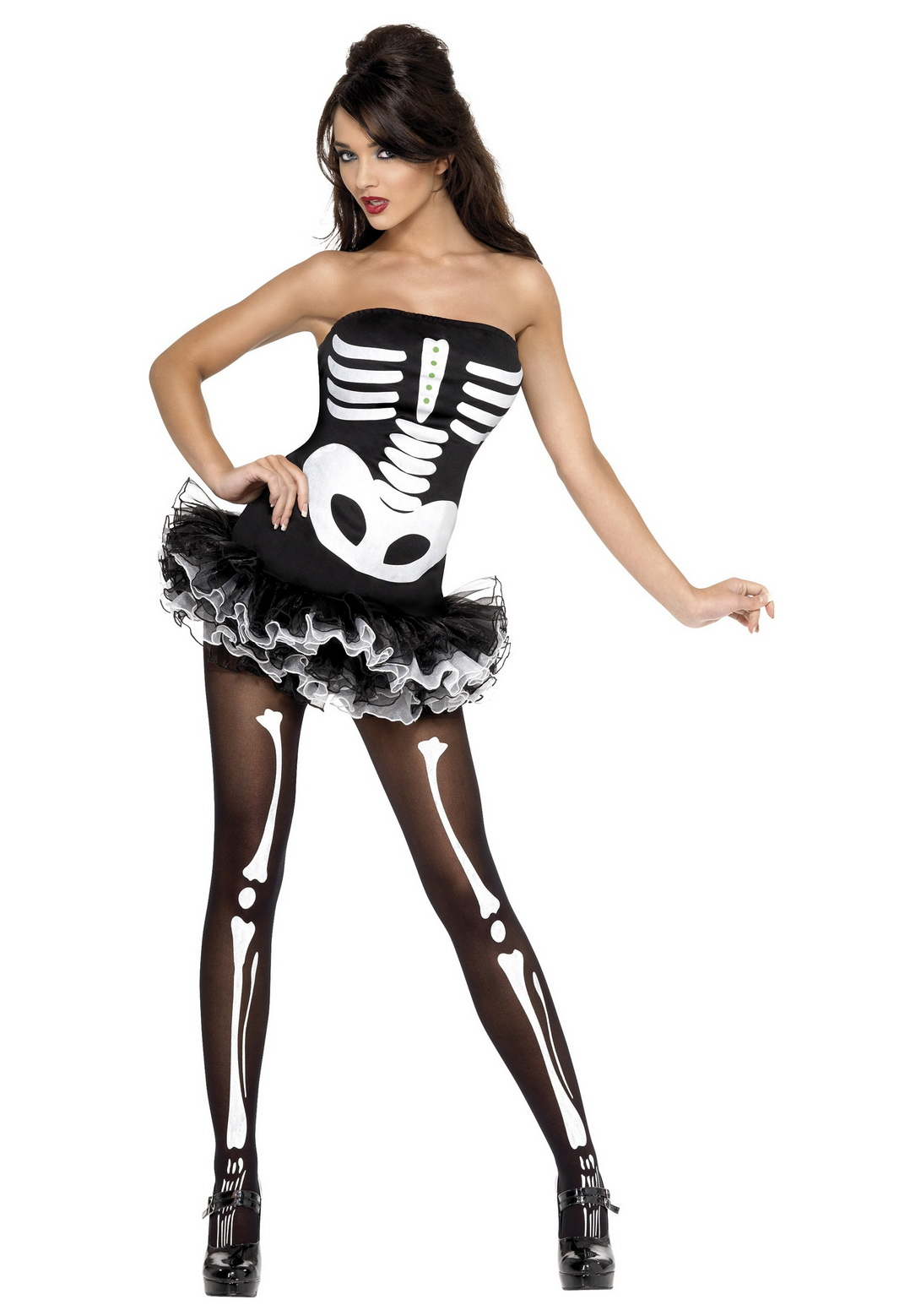 Adult Sexy Fever Skeleton Costume