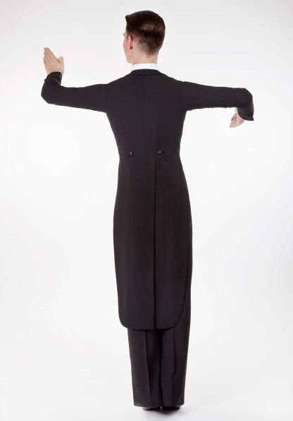 Men Ballroom Dancing Tailcoat back view