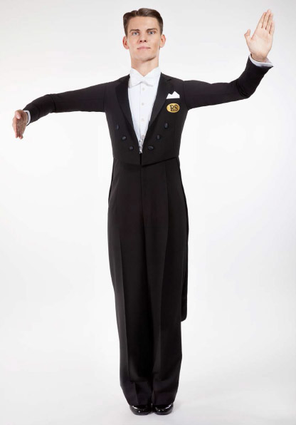 Men Ballroom Dancing Tailcoat front view