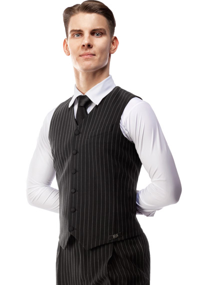 Men Ballroom Vest with vertical stripes