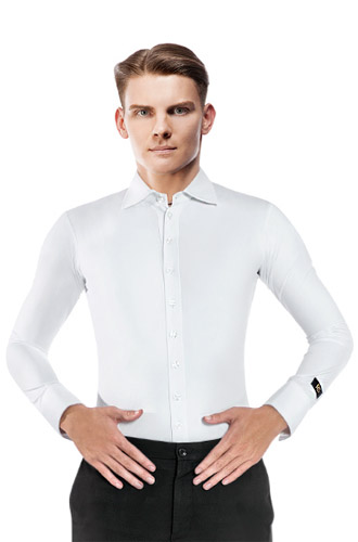 White Standard Basic Shirt for Ballroom Dancing