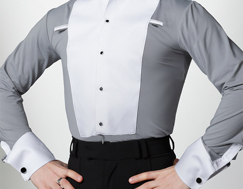 Ballroom shirt with studs