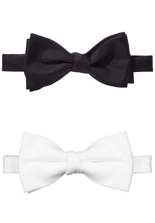 Black and white bowties
