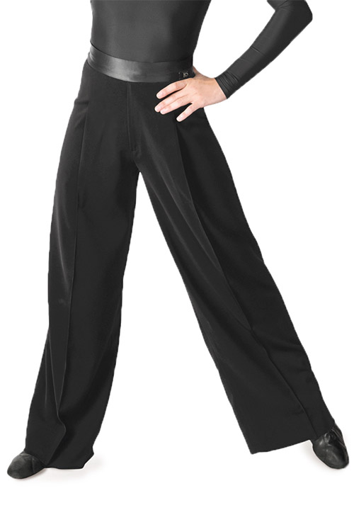 Men black latin trousers