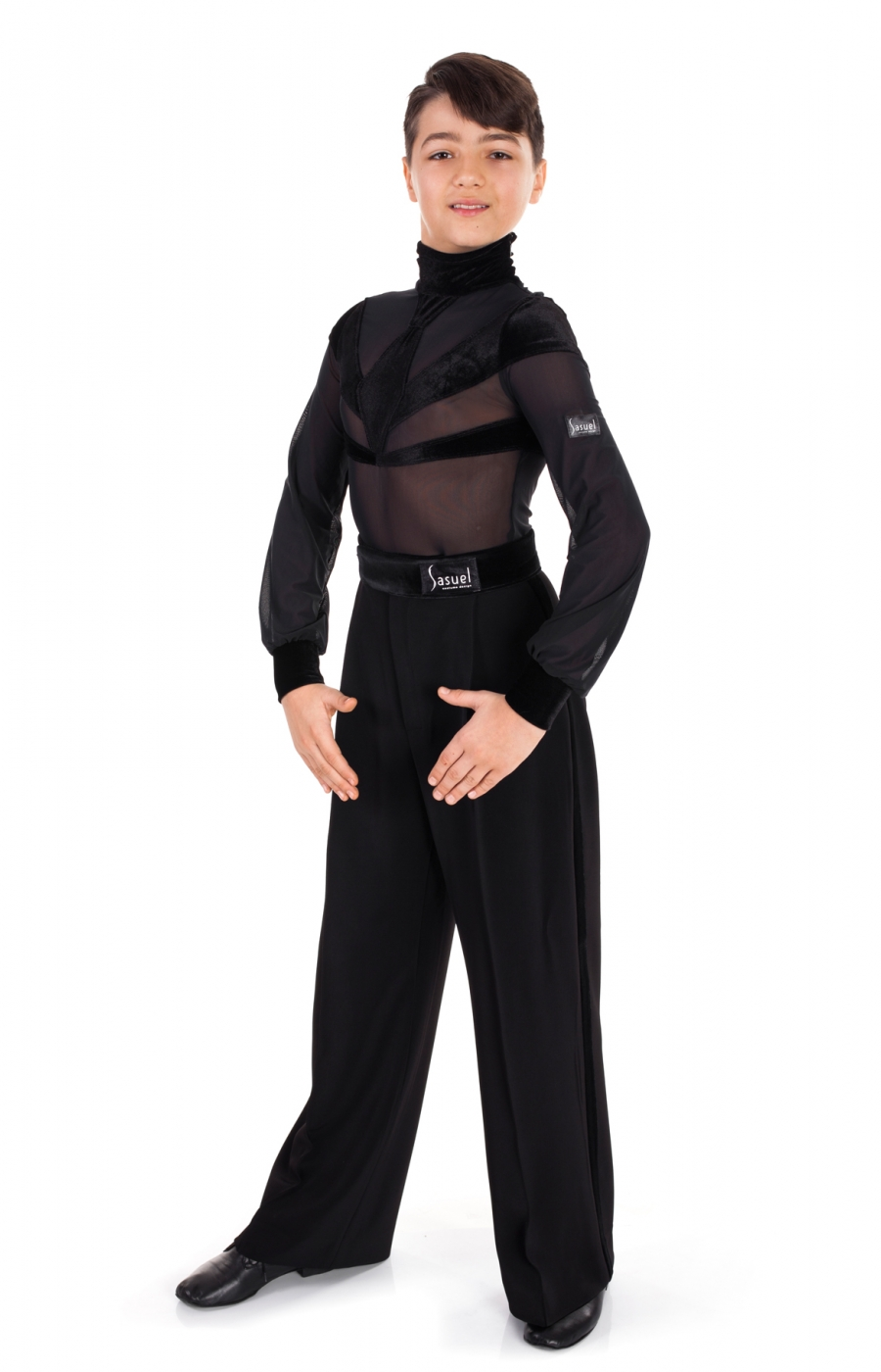 Latin Transparent Black Body Shirt Boys