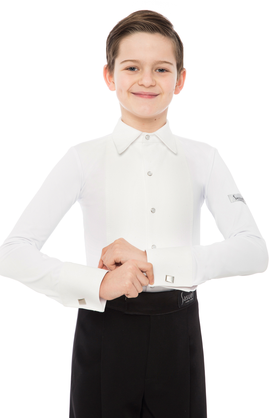 Boys Juvenile Ballroom Shirt For Vest