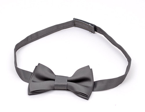 Gray bowtie with velcro