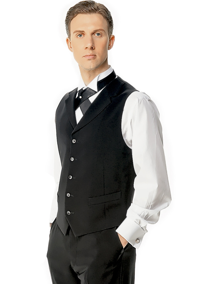 Taka Ballroom Vest With Lapel