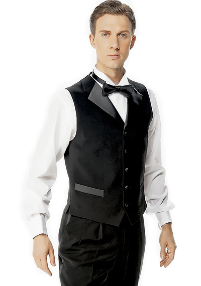 Taka Ballroom Vest With Satin Lapel