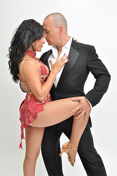 Sensual man woman tango dance leg