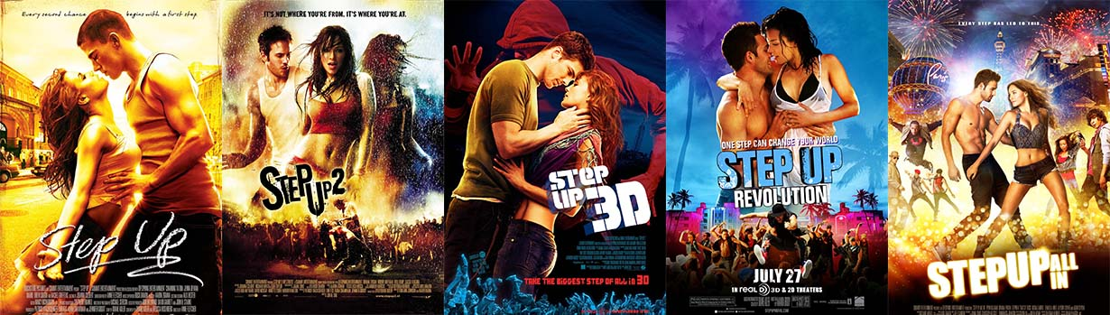 Step Up dance movie series poster