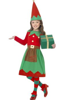Little Santas Helper Costume Girls Fancy Dress